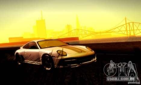 Porsche 911 Sport Classic para GTA San Andreas vista superior
