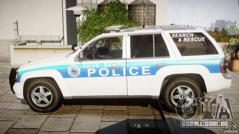 Chevrolet Trailblazer Police V1.5PD [ELS] para GTA 4 esquerda vista
