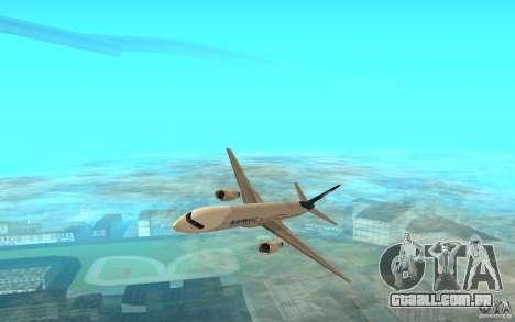 Boeing 757-200 para GTA San Andreas esquerda vista