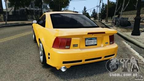 Saleen S281 2000 para GTA 4 traseira esquerda vista
