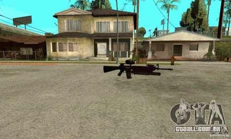 M16A4 + M203 para GTA San Andreas terceira tela