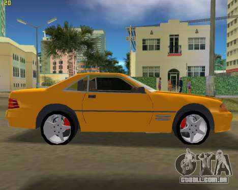 Mercedes-Benz SL600 1999 para GTA Vice City deixou vista