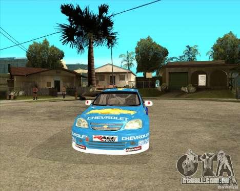 Chevrolet Lacetti WTCC para GTA San Andreas vista traseira