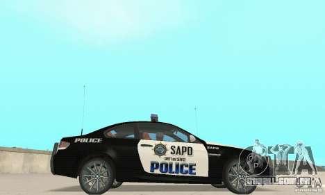 BMW M3 E92 Police para GTA San Andreas traseira esquerda vista
