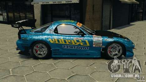 Mazda RX-7 RE-Amemiya para GTA 4 esquerda vista