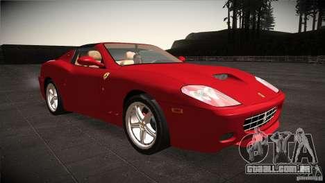 Ferrari 575 Superamerica v2.0 para GTA San Andreas vista traseira