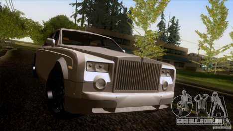 Rolls Royce Phantom Hamann para GTA San Andreas vista inferior