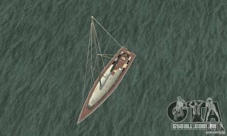 Marquis Segelyacht 09 Textures para GTA San Andreas vista direita