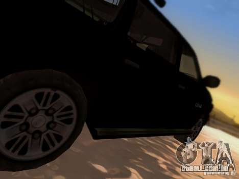Suv Call Of Duty Modern Warfare 3 para GTA San Andreas vista superior
