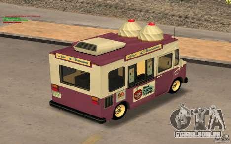 Chevrolet Forvard Control 20 Ice Cream para GTA San Andreas vista direita