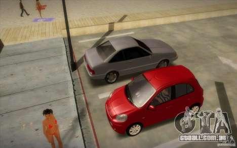 Nissan Micra 2011 para GTA San Andreas traseira esquerda vista