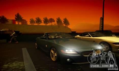 BMW Z4 para GTA San Andreas vista superior