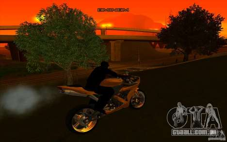 Yamaha YZF R1 Tuning Version para GTA San Andreas vista interior