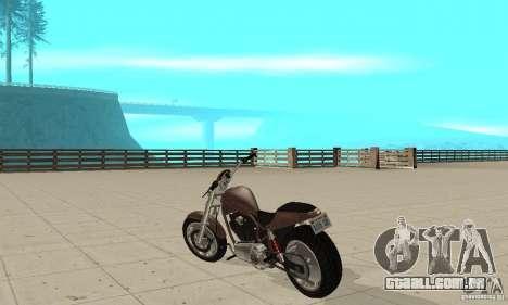 GTAIV Reverant para GTA San Andreas traseira esquerda vista