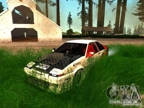 Toyota AE86 Coupe para GTA San Andreas vista superior