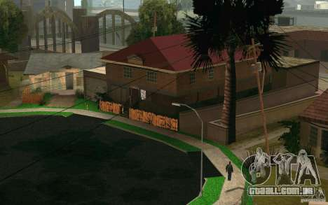 Nova casa na Grove Street CJ para GTA San Andreas quinto tela