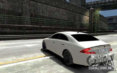 Mercedes Benz CLS Brabus Rocket 2008 para GTA 4 traseira esquerda vista