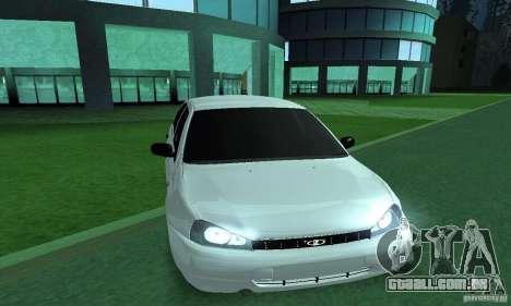 Lada Kalina Hatchback para GTA San Andreas traseira esquerda vista