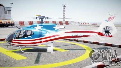 Eurocopter EC 130 B4 USA Theme para GTA 4 esquerda vista
