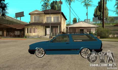 VW Parati GLS 1989 JHAcker edition para GTA San Andreas esquerda vista