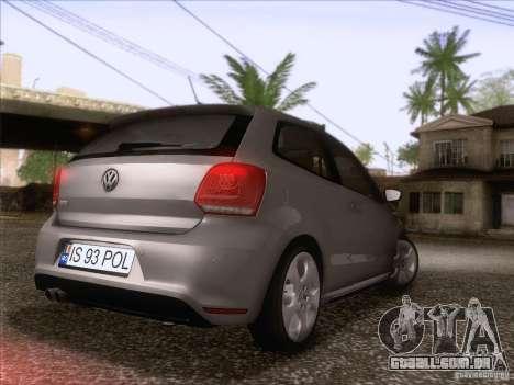 Volkswagen Polo GTI 2011 para GTA San Andreas traseira esquerda vista