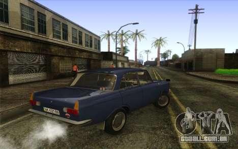 IZH 412 Moskvich para GTA San Andreas traseira esquerda vista