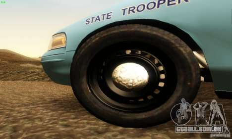 Ford Crown Victoria Maine Police para GTA San Andreas vista direita