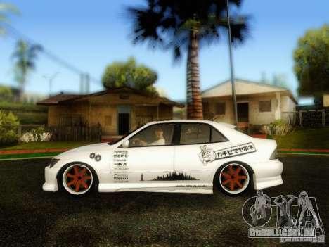 Lexus IS300 Jap style para GTA San Andreas traseira esquerda vista