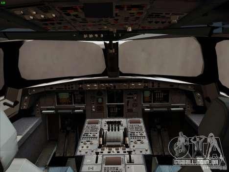 Airbus A350-900 Emirates para GTA San Andreas interior