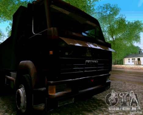 Caminhão KAMAZ 6520 para GTA San Andreas vista traseira