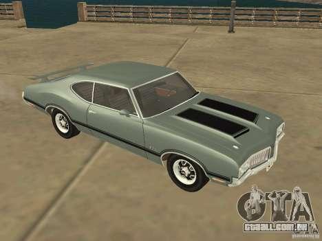 Oldsmobile 442 Cutlass 1970 para GTA San Andreas esquerda vista