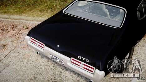 Pontiac GTO Judge para GTA 4 vista superior