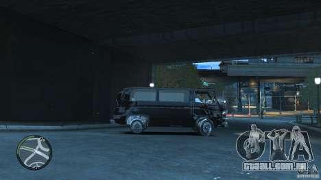 Volkswagen Transporter T3 para GTA 4 vista interior