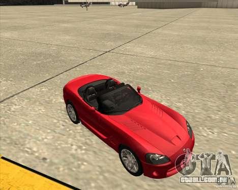 Dodge Viper SRT-10 Roadster para GTA San Andreas vista interior