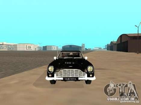 Aston Martin DB5 para GTA San Andreas vista traseira