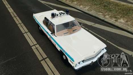Dodge Monaco 1974 Police v1.0 [ELS] para GTA 4 vista inferior