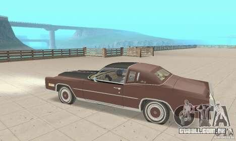 Cadillac Eldorado Biarritz 1978 para GTA San Andreas vista traseira