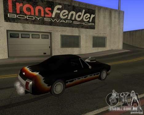 HD Diablo para GTA San Andreas traseira esquerda vista