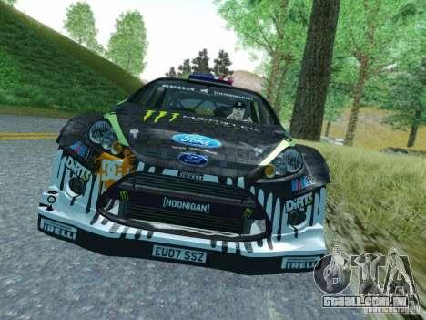 Ford Fiesta Ken Block Dirt 3 para GTA San Andreas esquerda vista
