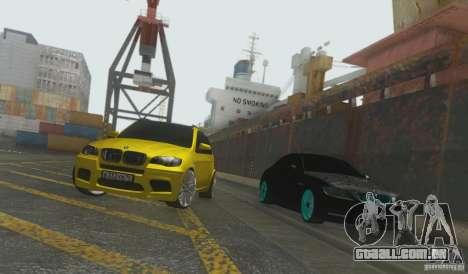 BMW X5M Gold Smotra v2.0 para GTA San Andreas vista direita