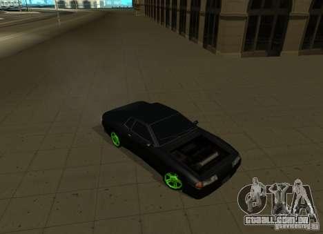 Elegy Green Drift para GTA San Andreas vista direita