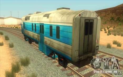 Um trem do jogo Half-Life 2 para GTA San Andreas vista direita
