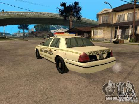 Ford Crown Victoria 2003 Police para GTA San Andreas esquerda vista