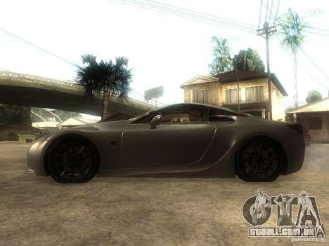 Lexus LFA Custom para GTA San Andreas esquerda vista
