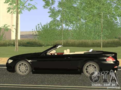 BMW 650I para GTA San Andreas esquerda vista