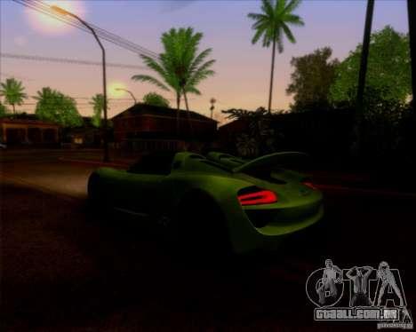 Porsche 918 Spyder Concept Study para GTA San Andreas vista traseira