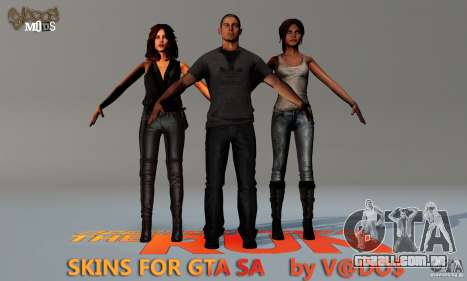 NFS The Run Skins para GTA San Andreas