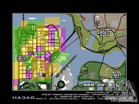 San Fierro and Los Santos Gang Zone para GTA San Andreas segunda tela