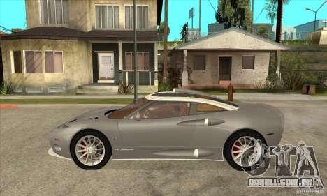Spyker C8 Aileron para GTA San Andreas esquerda vista
