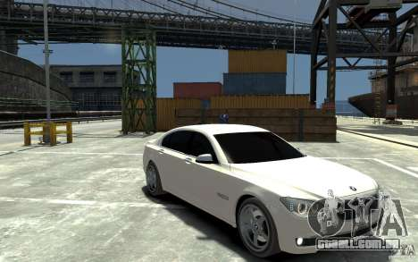 Bmw 750 LI v1.0 para GTA 4 vista de volta